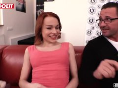 Letsdoeit - Ginger-haired Nubile Rebeca Attempts Ass Fucking For The First-ever Time At Casting!