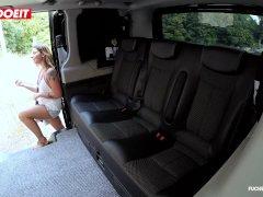 Letsdoeit - Diminutive Czech Teenie Finishes Off Rock Hard In Cab In Public