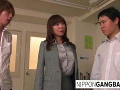 Beautiful Japanese Babe Is Group-fucked In The Classroom