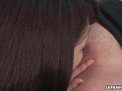 Japanese ladies, Megumi Shino and Yui Kawagoe got nailed, uncensored