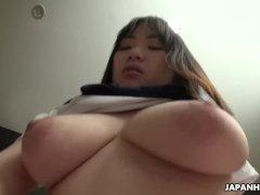 Japanese schoolgirl, Mikoto Mochida is fucking her married neighbor, uncens