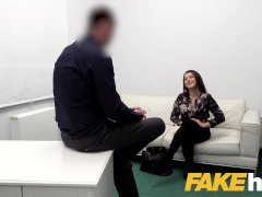 Fake Agent Steaming Slow Fuck-a-thon With Steaming Cock-squeezing Shaved Vulva On Audition Couch