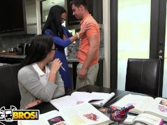 BANGBROS - Stepmom Ava Addams Threesome With Step Daughter Daisy Summers