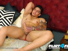 Flirt4Free - Dorian Lux - Huge Uncut Cock Muscle Worship Latino Stud