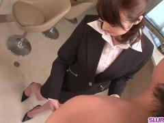 Perfect scenes of blowjob from mature Hitomi Oki - More at Slurpjp com