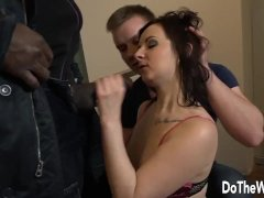 Cuckold Lets Wife Lena Dark Get Her Ass Drilled and Pussy Creampied by BBC