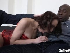 Cuckold Hubby Eats Creampie After Black Bull Ruins Wife Lindsey Sheron