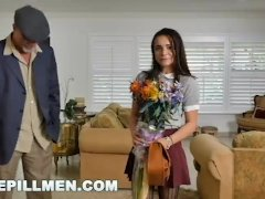Blue Pill Dudes - Youthfull And Dear Diminutive Teenie Kharlie Stone Takes Older Dick
