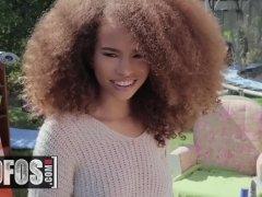 Cute Dark-hued Teenie Cecilia Lion Likes Sneaky Hump - Mofos