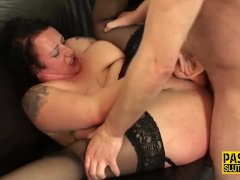 Submissive milf throats