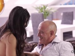 Old4k. Smooth-shaven Mind-blowing Parent Has Heavy Manstick For Big-titted Brunette