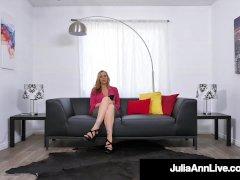 Sexy Mature Cougar Julia Ann Face Penetrates A Stiff Cock!