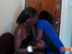 Kinky African Lezzies Have Fun With Each Other In The Bedroom