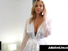 Step-mom Julia Ann Rams Her Vagina With Step-son's Cock!