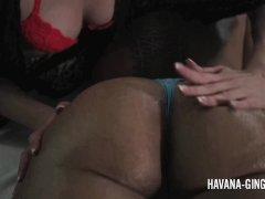 Angel Smalls Providing Havana Ginger A Nasty Massage