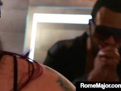 Big Fat Jasmeen Lefleur Trusses Up & Nails Big Black Cock Rome Major!