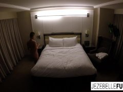 Sexy Jezebelle Bond Drapes Out In Her Motel Room