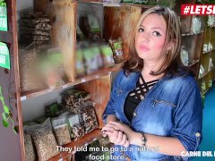 Letsdoeit - Colombian Unexperienced Plumper Picked Up In The Supermarket Moans On A Bbc