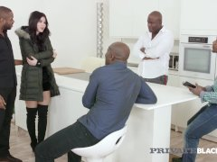 Private Ebony - Nubile Doll Dee Does Multiracial Gangbang!
