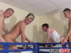 Uncut Euro twink soldiers having anal fun in the bedroom