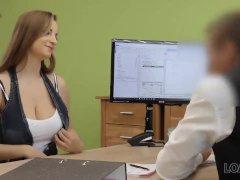 Loan4k. Agent Drills Juicy Young Atp-ass Because Girl Needs Money