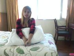 Blonde Asian Honey Creampied