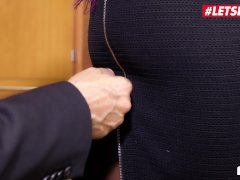 Letsdoeit - Steamy Black Assistant Smashed By Mature Manager In The Office