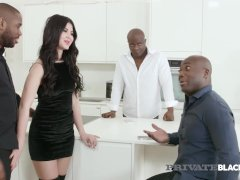 Private Dark-hued - Appetizing Girl Dee Gets Group-fucked By 4 Bbcs!