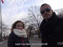 HUNT4K. Man should watch how his girlfriend has sex for money