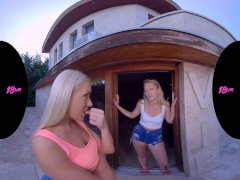 18VR Your GF Angelika Share You With Horny Dykes Lily Ray And Cayenne Hot