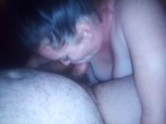Hot drunken blowjob