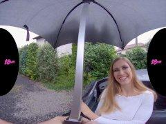 18vr Umbrella Makes Huge-chested Teenie Girlfriend Stella Cardo Humid Down There