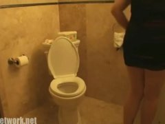 Adriana Shits In Rest Room Then She Substitutes Her Panty On Her Odorous Anus!!