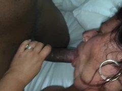 My Bbw Wife W/an Enormous Bbc -part 1, Sucking His Bbc