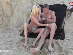 Mydirtyhobby - Steaming Platinum-blonde Bj's At A Public Beach