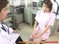 Japanese Nurse With Meaty Inborn Cupcakes Receives Jizz Frosted Asian Mass Ejaculation Or