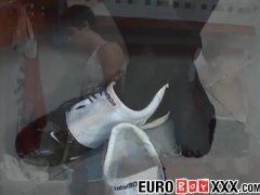Euro Faggots Pablo Thomas And Tobias Bianco Boink In Locker Room