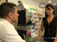 French Dark Haired Fucked In The Pharmacy