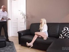 DADDY4K. Bald daddy cant believe alluring hotties Candee Licious wants sex