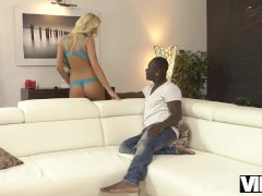 VIP4K. Karol Lilien is happy to celebrate victory with black guy