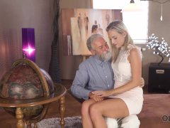 Old4k. Senior Dad Spends Sumptuous Time With Super-cute Blonde Girl Shanie Ryan