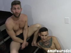 Amateursdoit - Inked Youngster Porked No Condom Through Bearded Jock