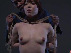 Full bondage in scenes of erotic porn for Rina  - More at Japanesemamas com