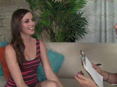 Casting a gorgeous amateur brunette Summer Rae
