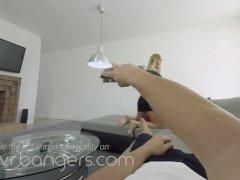 VR BANGERS Creamy dessert with sexy blonde girlfriend