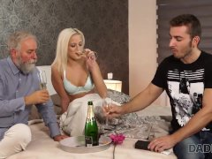 DADDY4K. Blonde angel doesnt need flowers but wants mature penis