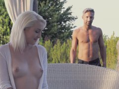 Sweet and sinful Lovita Fate sucks schlong outdoors and fucked doggy style