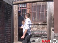 RAWHOLE Latino Bottom Dylan Hyde Hammered By Monster Cock