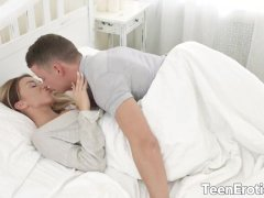 Perfect Blonde Teen Katrin Tequila Starts Her Day With a Rough Morning Anal