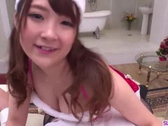 Sexual Christmas present for curvy ass Mahoro Yoshino - More at Slurpjp com